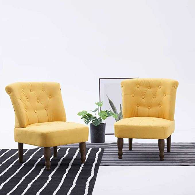 vidaXL - Sillón tapizado (Tela), diseño francés: Amazon.es ...