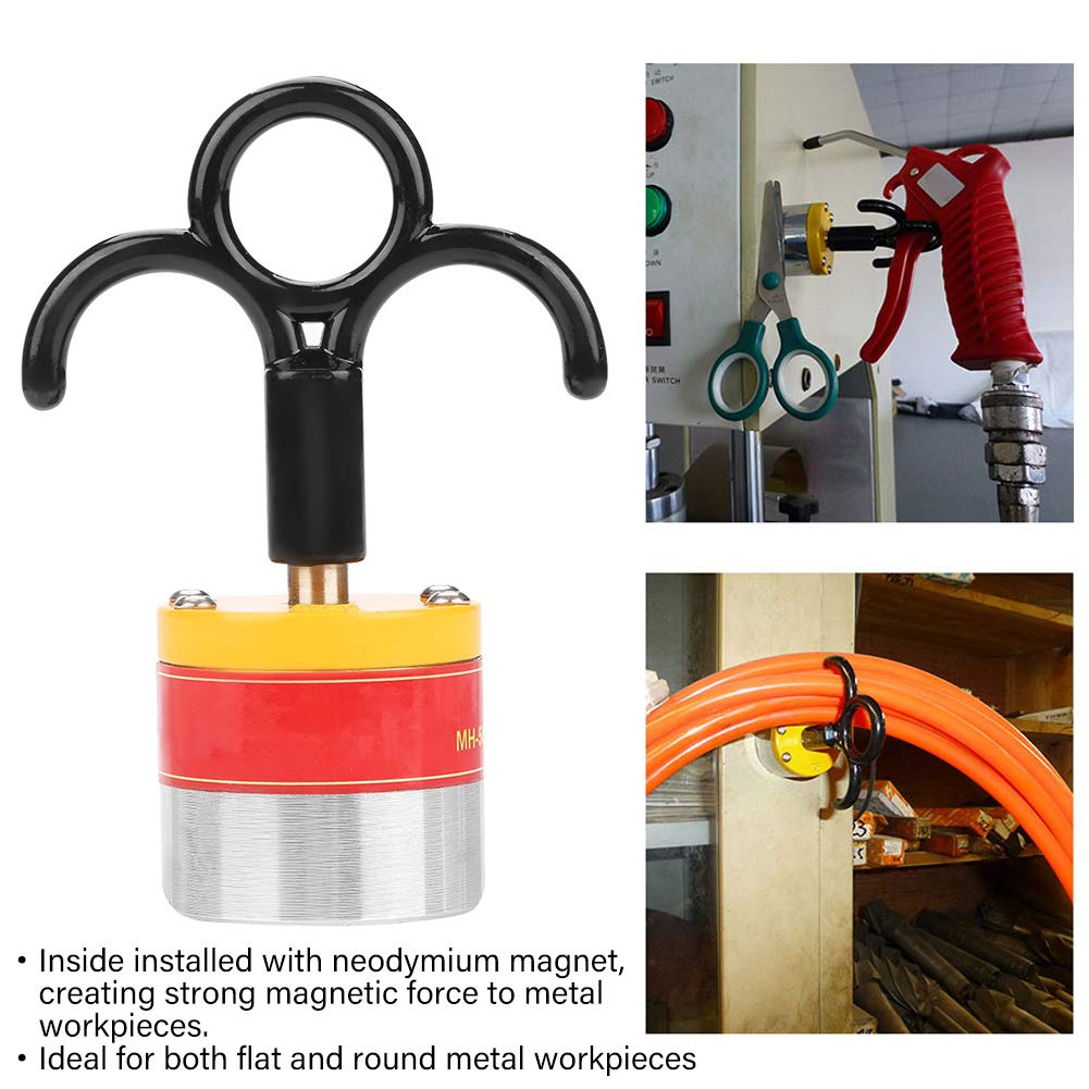 On/Off Industrial Strong Magnetic Hanging Hooks, MH-50 Functional Portable High Neodymium Magnet for Hanging Cables, Lights and Different Kinds of Tools by Wal front (Image #7)