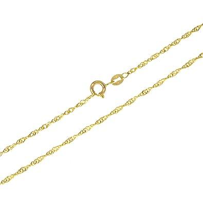 Halskette Goldkette 18k vergoldet Panzerkette Unisex • Länge 50cm • Breite 0,5cm