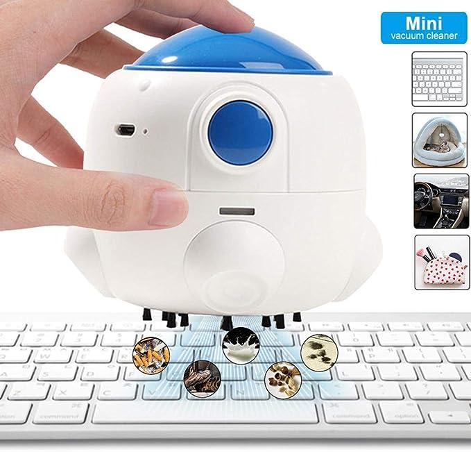 Happyoyo - Aspiradora de Escritorio con Forma de Cohete, Mini Mesa de Carga USB portátil, Ideal para Limpiar Migas, Polvo, pelos pequeños, raspaduras, etc.: Amazon.es: Hogar