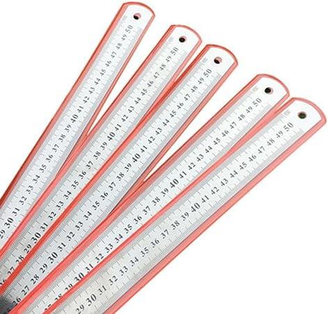 Acier inoxydable comme sur limage 30//50//60/cm m/étrique en acier inoxydable Outil de mesure de pr/écision R/ègle double face 50 cm