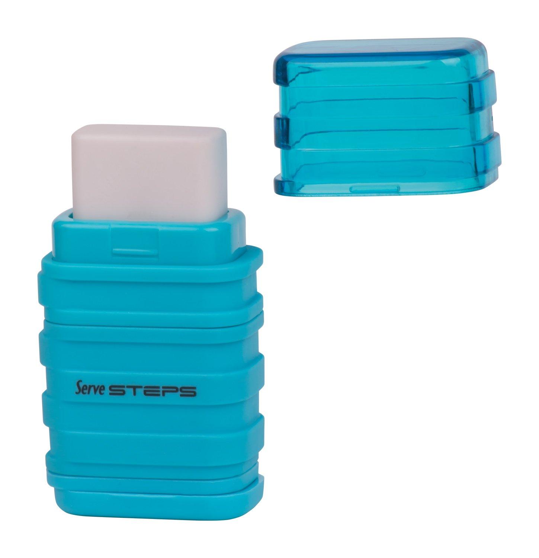 Serve SV Step S9KT Steps Eraser and Sharpner One Body Paper Box, Pack of 9-Fluorescent Colors by Serve (Image #10)