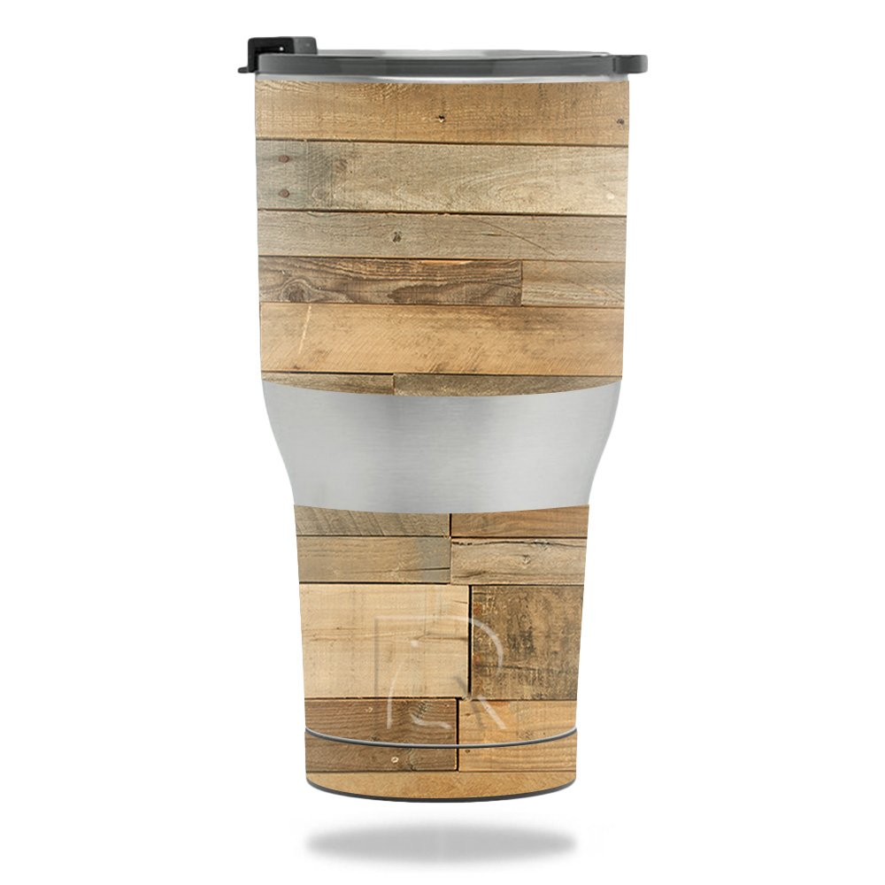MightySkins Skin for RTIC Tumbler 30 oz. (2017) - Reclaimed Wood | Protective, Durable, and Unique Vinyl Decal wrap Cover | Easy to Apply, Remove, and Change Styles | Made in The USA