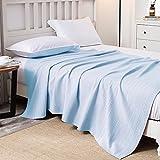 Merryfeel Cotton Waffle Weave Blanket-Light Blue King