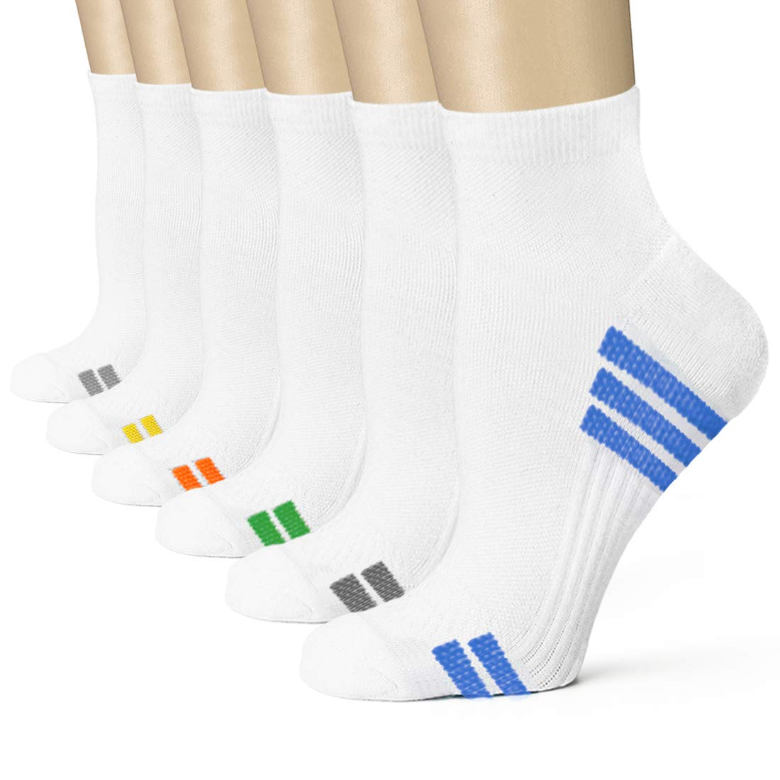 Compression Socks Women and Men, Ankle Compression Socks, Running socks (6 Pairs),Arch Support Flight Travel Nurses