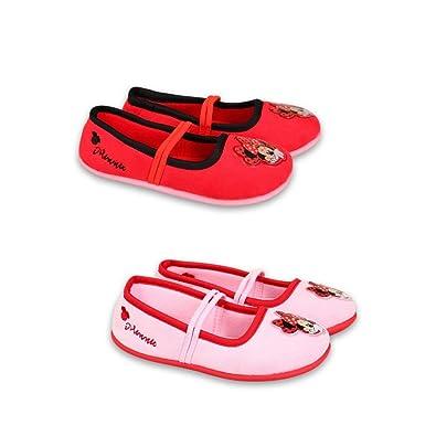 buy popular 2fd26 9220e DisneyMinnieMouse Disney Minnie Mouse - Hausschuhe Laufschuhe für Mädchen  Ballerinas (31) Rot