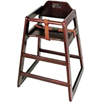 High Chair CHH-103 Mahogany Wood Knocked-Down Winco