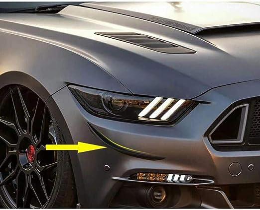 Nero LCRAKON Spoiler Splitter Paraurti Anteriore per Ford Mustang 2015 2016 2017 Rivestimento della Copertura del Labbro Anteriore Perfetta Aerodinamica Installazione Semplice
