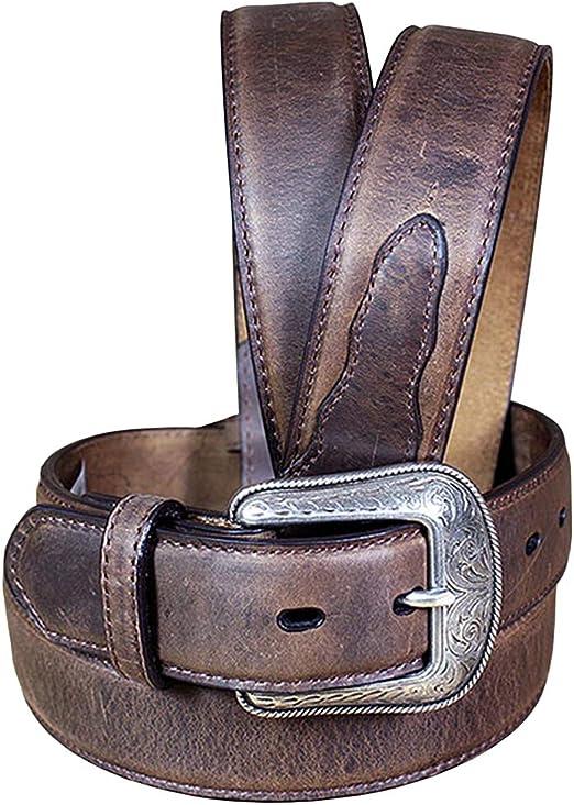 3D 1 1//2 Tan Mens Western Basic Belt