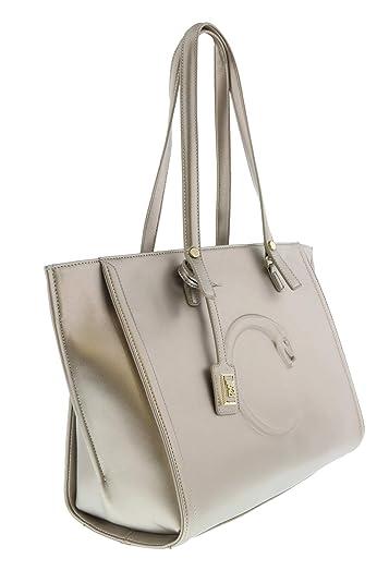 free shipping 51e63 7092d Amazon.com: Roberto Cavalli HXLPAN 102 Bronze Shopping Bag ...