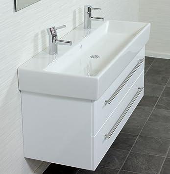 Doppelwaschbecken mit unterschrank holz  Emotion MEMENTO120CMDOPPEL000101DE Waschbecken mit Unterschrank ...