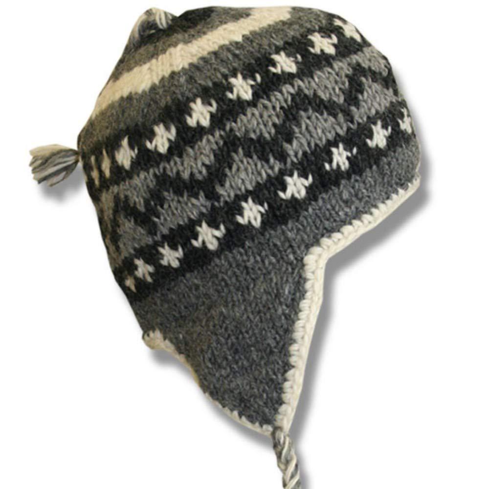 Kanada Shop Adult Earflap Hat Grey & Black Mix