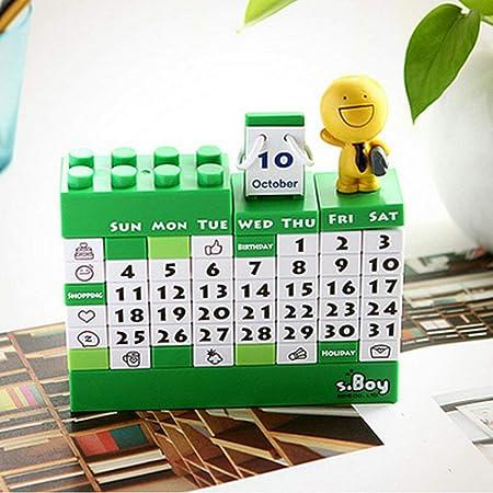 AGGIEYOU Bloques de construcción Calendario Calendario ...