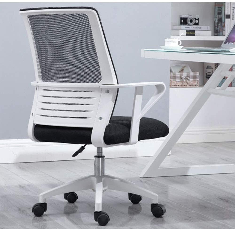 Barstolar svängbar stol verkställande stol, lyft 360° rotation hushåll datorstol ergonomi lat vardagsrum stol kontor personalstol uppskattad lastkapacitet: 96 kg (färg: grå) Svart
