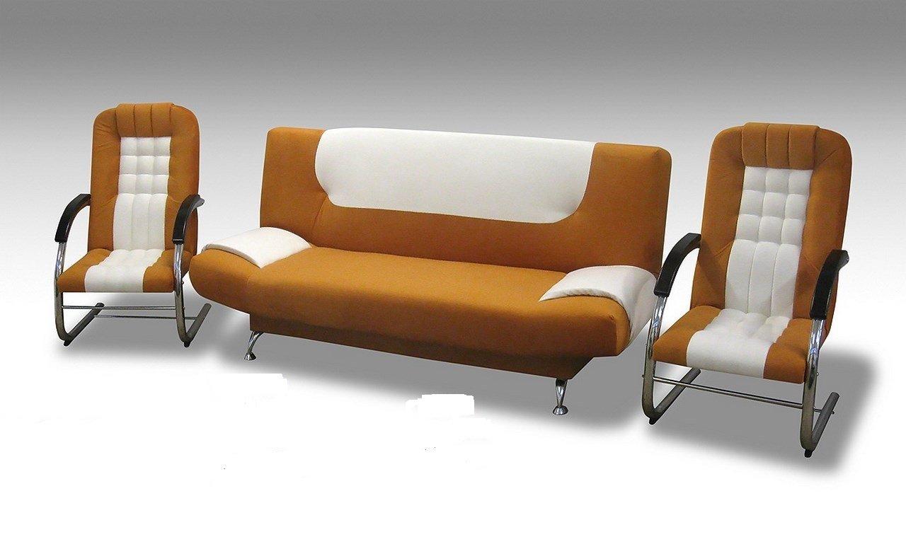 Eva 3 Sitzer 3er Sofa Couch Mit Schlaffunktion Und 2 Sessel Mit