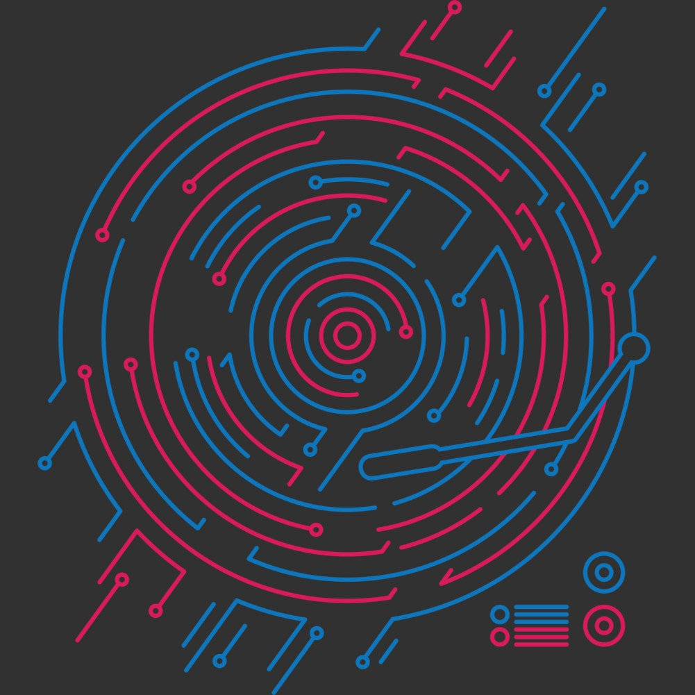 Design By Humans Neon Equalizer Boys Youth Graphic T Shirt