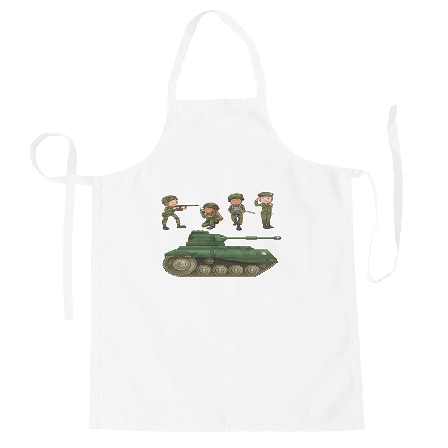 group of soldiers Tank Apron v488b