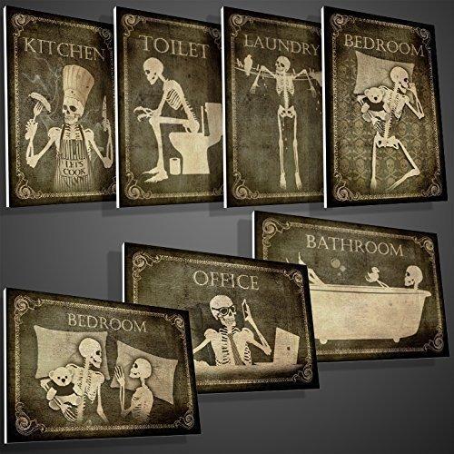 doors bedroom amazoncom skeletons door sign for your home doors toilet