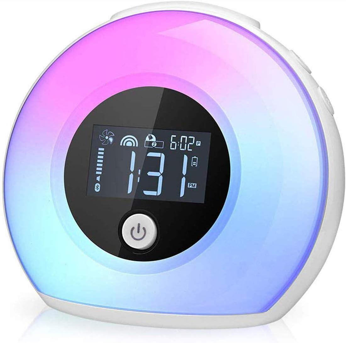Yapeach Digital Alarm Clock, Smart Kids Alarm Clock with Bluetooth Speaker, Wake up Night Light for Kids Wireless LED Night Lamp for Bedroom Living Room Home Desk D cor
