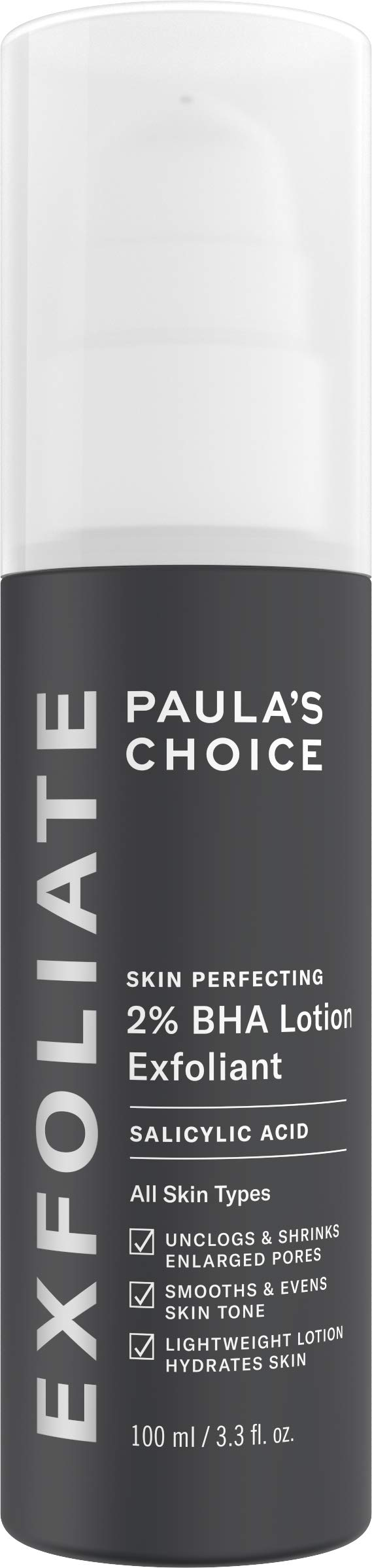 Paula's Choice SKIN PERFECTING 2% BHA Lotion Salicylic Acid Exfoliant, 3.3 Ounce Bottle Facial Exfoliator for Blackheads, Enlarged Pores, Wrinkles & Fine Lines by PAULA'S CHOICE