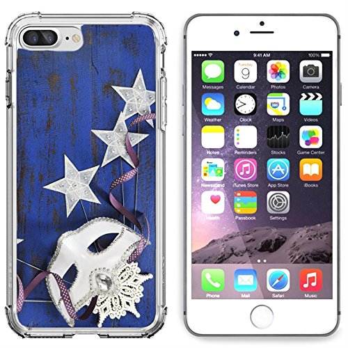 Luxlady Apple iPhone 6 Plus iPhone 6S Plus Clear case Soft TPU Rubber Silicone Bumper Snap Cases iPhone6 Plus iPhone6S Plus IMAGE ID: 34324174 Happy New Year background with white (Masquerade New Years Party)