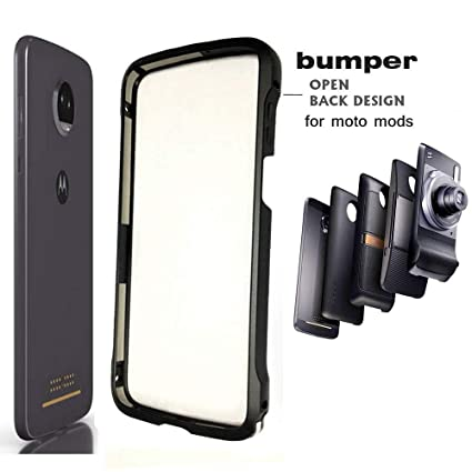 pretty nice a9a6f d646c Moto Z3 Case Z3 Play Bumper Case Compatible Moto Mods Dngn Luxury Aluminum  Metal Frame Cover 4 Corners Shockproof Protective Slim Fit for Motorola ...