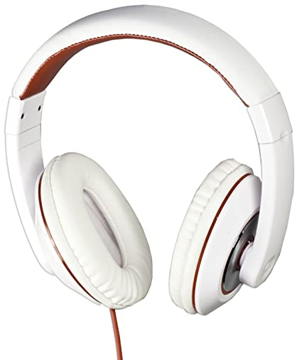 8470bae00b0 Amazon.com: SoundLogic XT Dynabass Headphones with Dynamic Bass and  Microphone, White: Home Audio & Theater