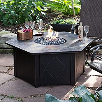 Decorative Slate Tile LP Gas Outdoor Fire Pit With FREE Cover
