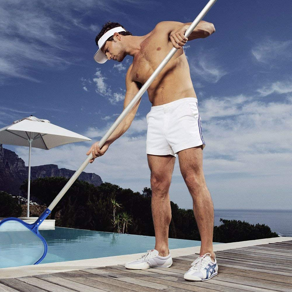 Heavy-Duty Pool Rake; Durable Aluminum Most Standard Pole for Removing Leaves Debris on The Bottom and Surface On-Airstore Pool Leaf Skimmer Net Professional Rectangle