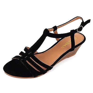 b73f8d0f8 MuDan Womens Shoe Suede Wedge Sandal (6 B(M) US