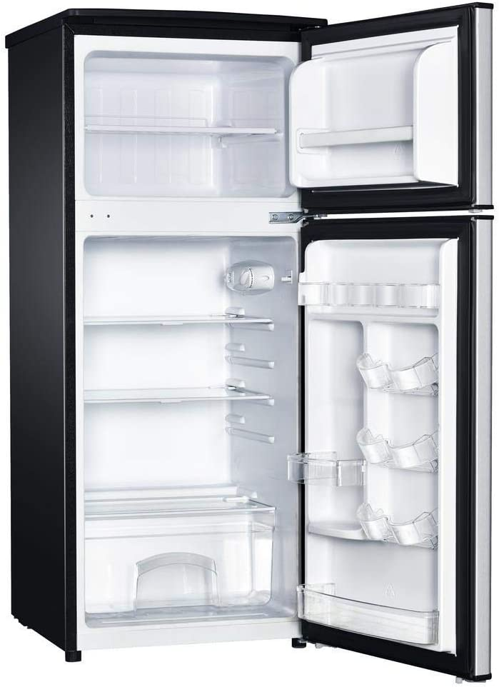 Magic Chef 4.5-Cu. Ft. Mini Refrigerator with Top-Mount Freezer and Stainless Steel Door