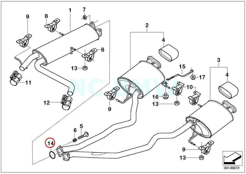 X5 Exhaust Diagram