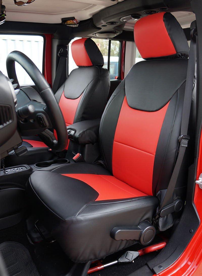 Amazon Com Iggee Jeep Wrangler 2013 2016 Black Red Artificial