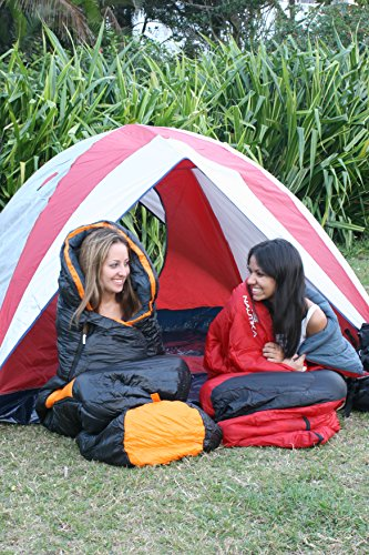 Amazon.com : NTK Viper Synthetic 1 Season Sleeping Bag Black Navy, Hybrid Shape (Mummy/Envelope) Camping, Backpacking, Hiking Black/Navy.
