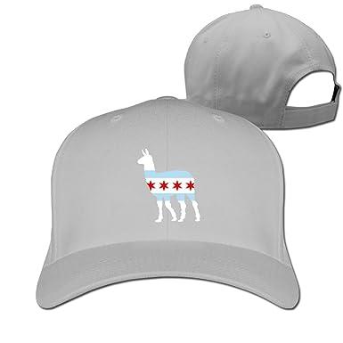 JCS Chicago City Flag Llama Fashionable Men&Women Baseball Cap Adjustable Fitted Snapback(55-60cm
