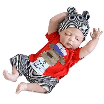 d259db7f4457 Amazon.com  Lilith 23 Inch 57cm Sleeping Reborn Doll Baby BOY Soft ...