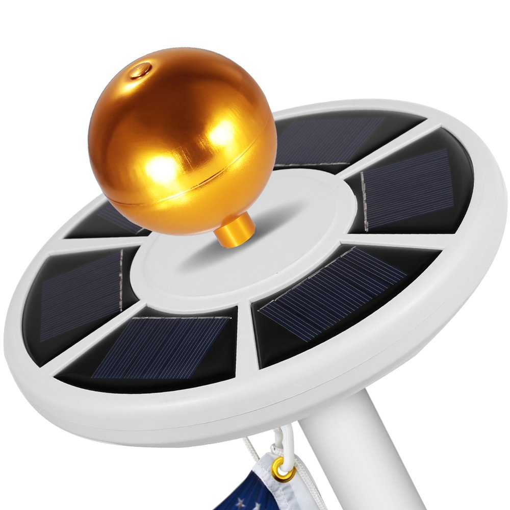 Flagpole Ball Top Ornament Aluminum Anodized Finish, 3-Inch (Gold) by GRDE (Image #6)