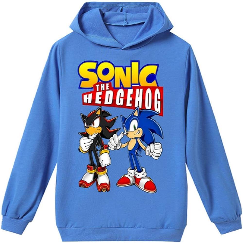 Kids Hoodie Boy Sonic The Hedgehog Thin Jacket Girls Hoodie Sets 6 14years Kids
