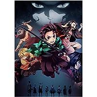lunanana Demon Slayer: Kimetsu geen Yaiba Poster Prints, Anime Scrolls Poster Banners voor Verzamel Home Muur Slaapkamer…