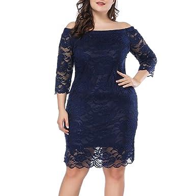 b9c6c3eac99 Prior Jms Womens Plus Size Lace Mini Dress Wedding Dresses Off Shoulder  Vintage Floral for Cocktail