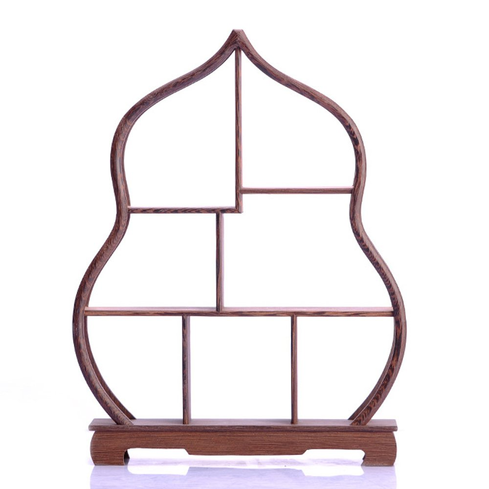 NWFashion Chinese Wooden Assemble Display Stand Square Curio Cabinets Shelf (3)