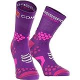 Compressport 中性 3D豆袜 越野跑袜 跑步袜 高帮压缩袜 Socks V2.1 TRAIL HI CS-TSHV212
