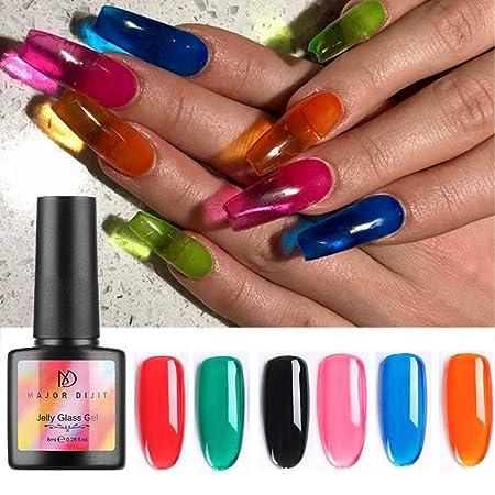 Foonee Esmalte De Uñas Crystal Gel 8ml Colores De Cristal