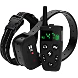 TBI Pro Shock Collar for Dogs with Remote - Dog Training Collar Range 1600 feet, Vibration Control, Rechargeable Bark E Colla