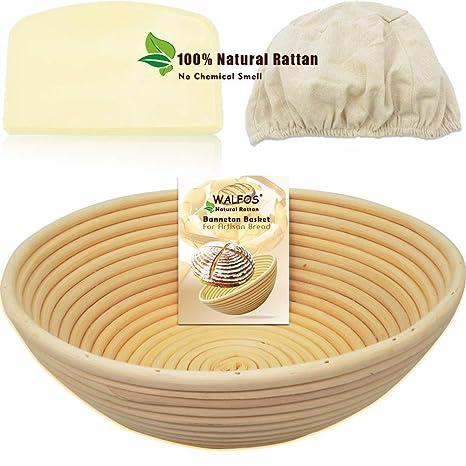 Amazon.com: Walfos - Cesta redonda de panadería de estilo ...