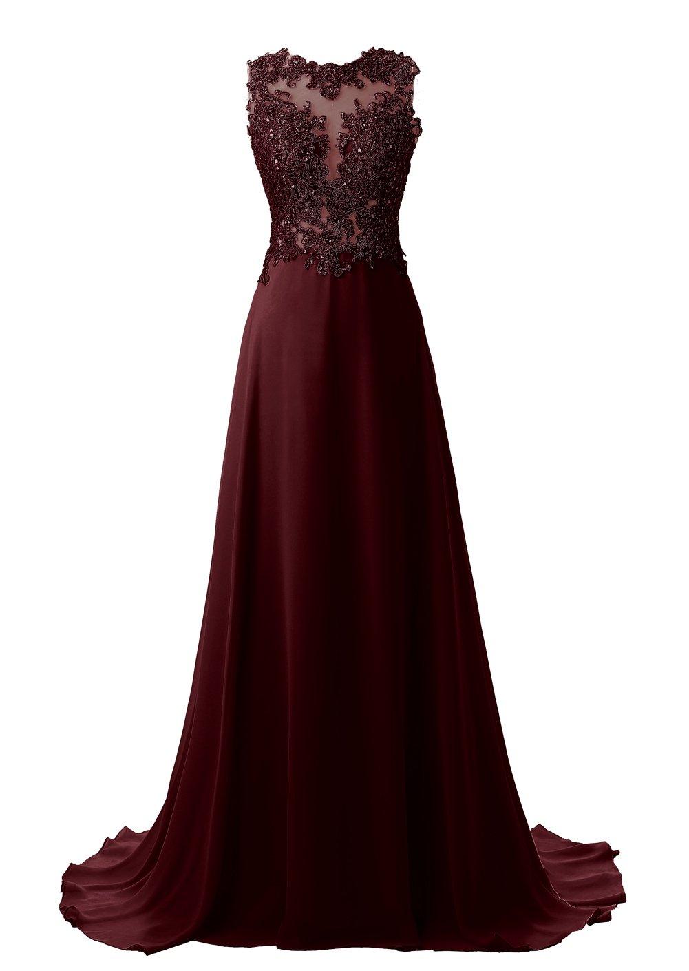 Burgundy Prom Dresses 2017 Long: Amazon.com