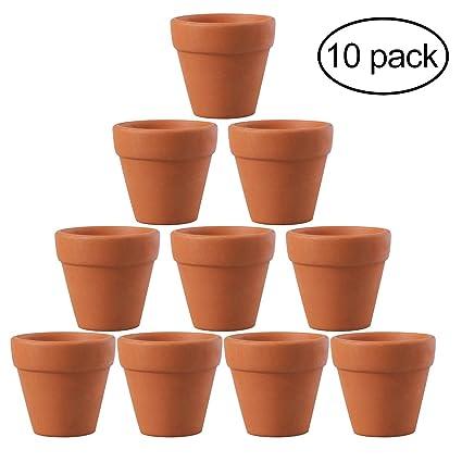 Vaso Di Coccio.Ounona Set Di 10 Mini Vasi Di Terracotta Da 4 5 X 4 Cm Per Fiori Cactus Deliziosi Vasi Di Vivaio Ideali Per Piante Artigianato Bomboniere Per