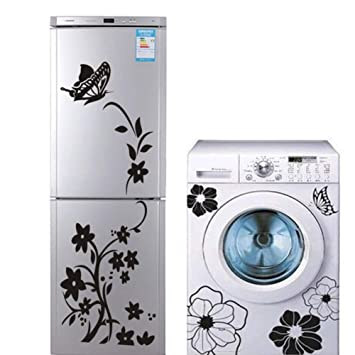 FZWXBZ Etiqueta De La Pared 2 Unids Creativo Refrigerador Lavadora ...