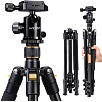 K&F Concept 62'' DSLR Tripod, Lightweight and Compact Aluminum Camera Tripod with 360 Panorama Ball Head Quick Release…