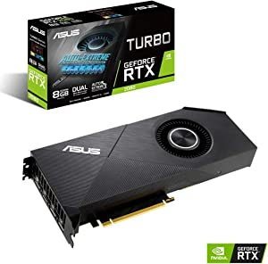 ASUS GeForce RTX 2080 8G Turbo Edition GDDR6 HDMI DP 1.4 Graphics Card (TURBO-RTX2080-8G-EVO)
